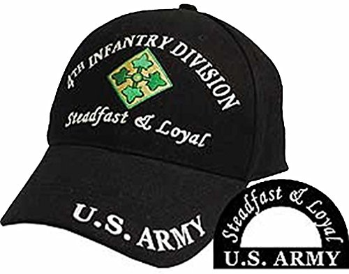 U.S. ARMY 4TH INFANTRY DIVISION STEADFAST & LOYAL Direct Embroidered Hat - Color - Veteran Owned Business