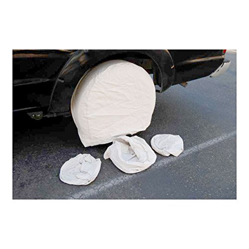 TCP Global Set of 4 Canvas Wheel Tire Covers for RV Auto Truck Car Camper Trailer to 28 Diameter WM-30237
