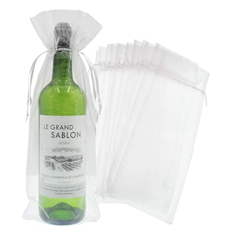 Amazon.com: Bezall 20 bolsas de regalo de organza con cordón ...