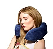 Travel Pillow by Prism, BEST Neck Support for Airplane, Car, Train. Ergonomic Cushion Design Improves Comfort, Unique Built In Carry Case, Super Soft and Comfortable Memory Foam