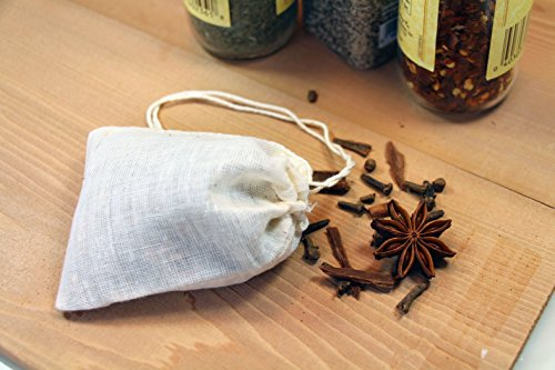 Regency Spice Bags for Bouquet Garnis with Drawstring Tops, set of 4 (Regency Jewelry)