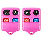 2 Light Pink- QualityKeylessPlus Remote Replacement 4 Button Keyless Entry FCC ID: CWTWB1U331 FREE KEYTAG