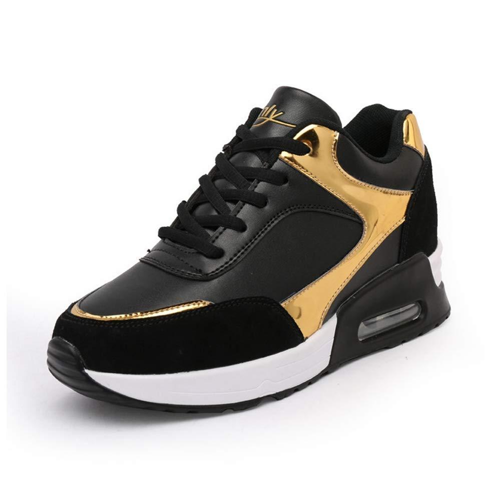 359e36951325e Amazon.com: ASO-SLING Womens Platform Wedge Sneaker Casual Leather ...