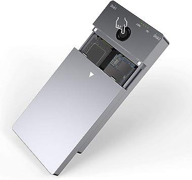 Rocketek - Carcasa para SSD M.2 PCIe NVME SSD, USB tipo C 3.1 Gen2, carcasa de