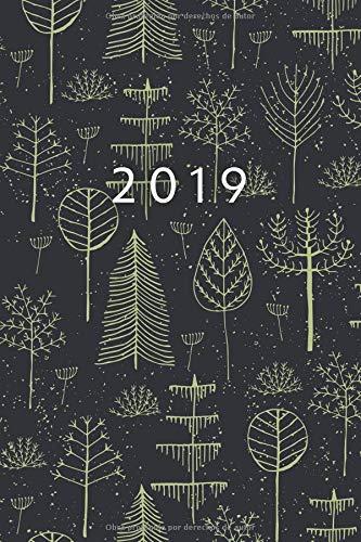 2019: Ene - DIC Agenda Semanal - 152 X 229 MM - 1 Semana En 2 Páginas - 52 Semanas Planificador Y Calendario - Bosque