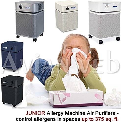 Cleaner Air Allergy Machine - Austin JUNIOR Allergy Machine Air Purifier with True Medical HEPA and Carbon/zeolite Blend Filters (Sandstone)