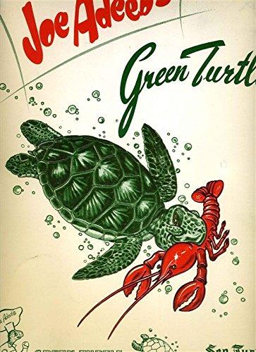 Joe Adeeb's GREEN TURTLE Menu Wine Spinner US 1 Atlantic Beach Florida 1950's
