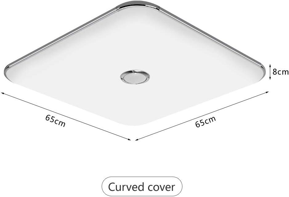 JDONG Deckenleuchte mit Fernbedienung und Bluetooth Lautsprecher 50W, dimmbar, Warmweiss- Kaltweiss, 2800-6500 Kelvin, Nachtlicht 50w