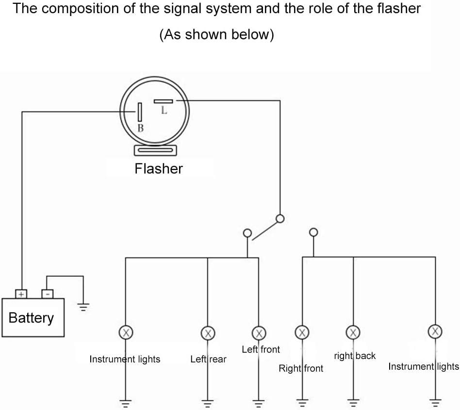 Amazon Com 2 Pin Motorcycle Motorbike Beeper Flasher Relay Turn Signal Indicator Blinker Blue 6 12v Automotive