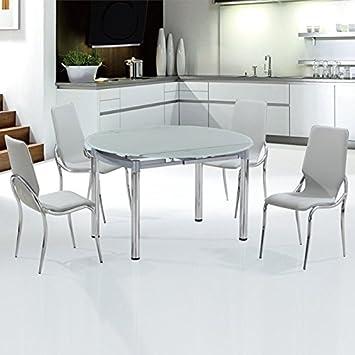 ensemble table de cuisine avec rallonge avec chaises