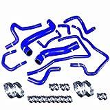 03 wrx radiator - Upgr8 U8919-6-03 High Performance 4-ply Radiator and Heater Silicone Hose Kit (Blue) (No Fit EJ255 Engine)