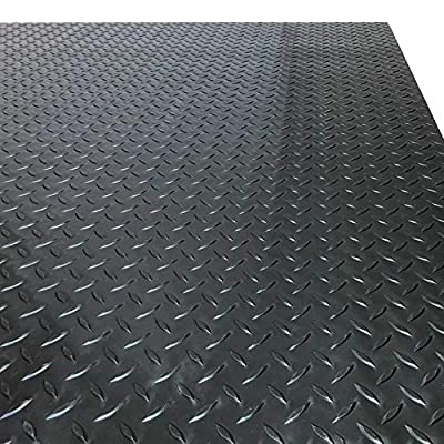MMG PVC Flooring Diamond Floor Runner for Garages, Gyms, Boats, Cars, and Decoration - 2mm Thick