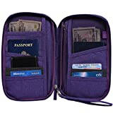 Hopsooken Travel Wallet & Passport Holder Organizer Rfid Blocking ID Card Pouch (Purple)