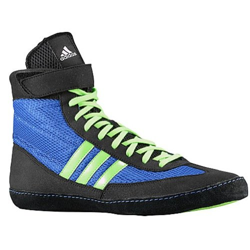 adidas Combat Speed 4 Wrestling Shoes - Bahia Blue/Lime Green/Black - 10