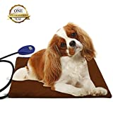 Pet Heating Pad - Sotical Veamor 15V Electric Heating Pad for Pets Waterproof Anti Chew Cord Warming Beds Pet Mat Pressure Activated with Soft Removable Soft Cover 15.7