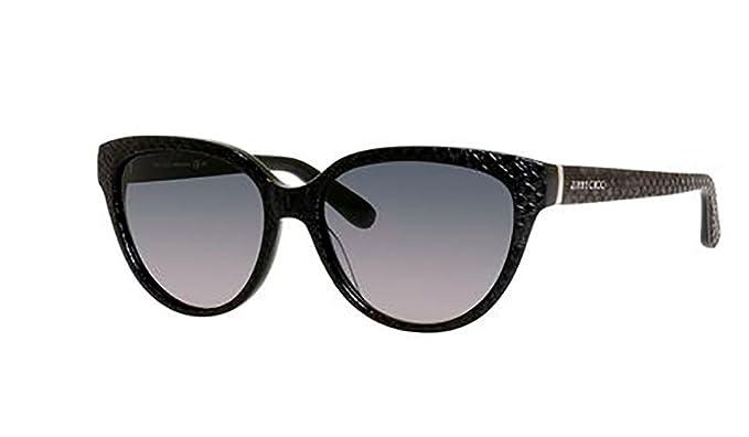 jimmy choo sunglasses odettes frame black lens gray gradient