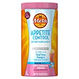 Metamucil Appetite Control Dietary Supplement, Sugar-Free Pink Lemonade Quench, 57 Doses