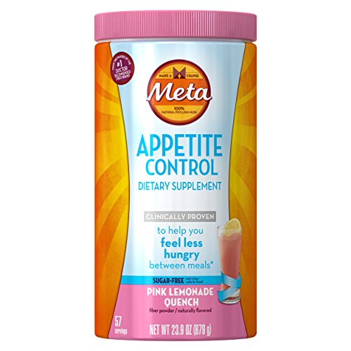 Metamucil Daily Appetite Control Weight Loss Supplements, Pink Lemonade Quench Sugar Free Fiber Appetite Suppressant, 57 Doses