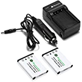 Powerextra 2 Pack Replacement Battery and Charger for Nikon EN-EL10 and Nikon S60, S80, S200, S205, S210, S220, S230, S500, S510, S520, S570, S600, S700, S3000, S4000, S5100 Digital Cameras