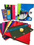 Back to School Bundle for 6th Grade to High School Supplies Set, Junior Senior High School Or College Essentials, School Supplies Packs for Boys and Girls, Office Supply Kit (21 Items)
