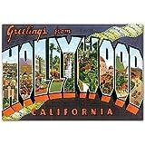 Greetings from Hollywood California Fridge Magnet