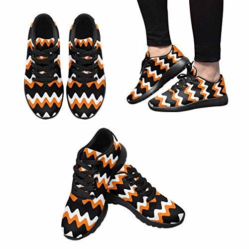 InterestPrint Halloween Strip Background Womens Jogging Running Sneaker Lightweight Go Easy Walking Shoes Multi 1 OkPUqypY