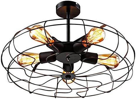 Livy - Lámpara de techo con aspecto de ventilador rústico, para ...