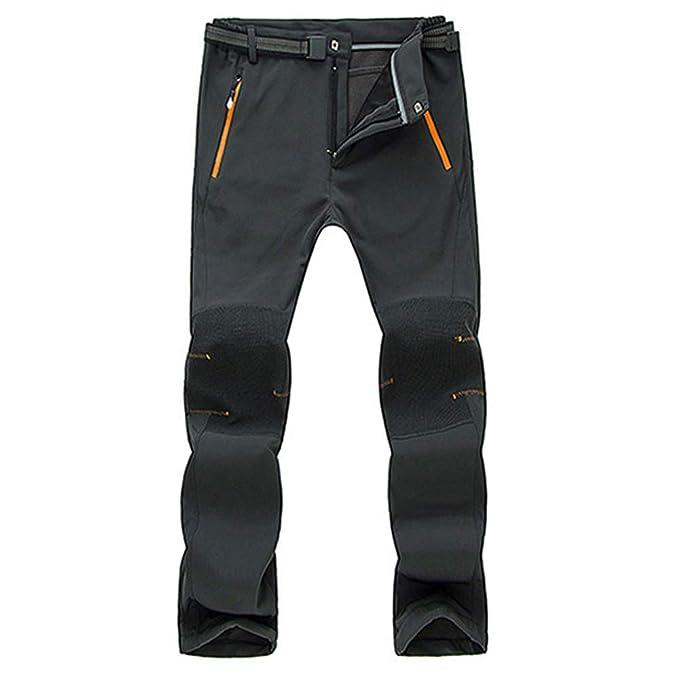 342409c6f35 VPASS Pantalones para Hombre, Pantalones de Trekking Softshell Pantalones  Impermeables Resistente Pantalones de Escalada Trabajo Pantalones Trabajo  ...