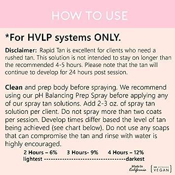 Ultra Violet – One Hour Spray Tan Solution – Violet Base 32oz