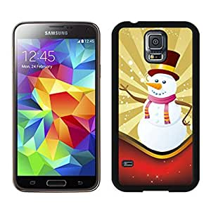 Popular Design Christmas Snowman Black Samsung Galaxy S5 Case 11