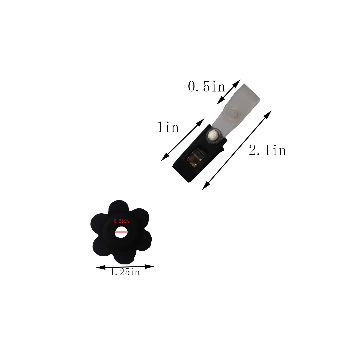 5 Set of Garden Flag Stoppers Rubber Stops and Plastic Anti-Wind Clips Garden Flag Pole Stand Accorrssies 10 Pieces