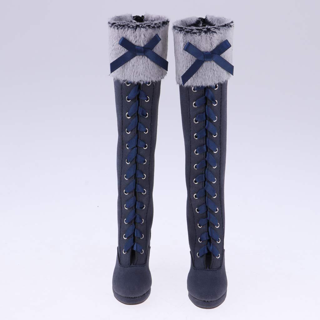 Baoblaze Bottes Martin Hauteur du Genou Chaussures /à Talons Hauts Convient pour 1//3 BJD Girl Dolls Kaki