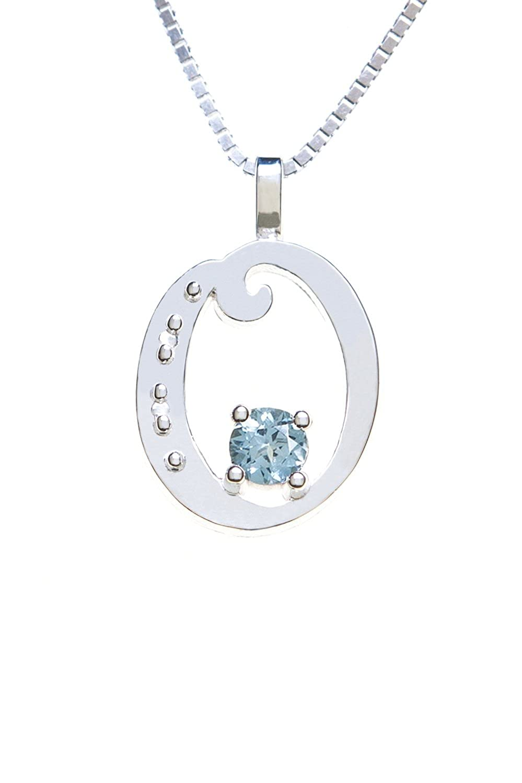 Sterling Silver Pendant Alphabet O