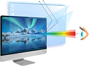 25-26 inch VizoBlueX Anti-Blue Light Filter for Computer Monitor. Blue Light Monitor Screen Protector Panel (23.6 x 14.4 inch). Blocks Blue Light 380 to 495 nm. Fits LCD, TV and PC, Mac Monitors