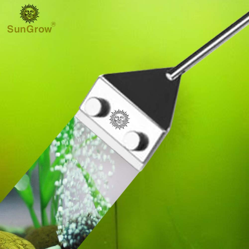 SunGrow Aquarium Algae Cleaning Razor - Keep hands dry & contamination-free - Stainless steel design ensures corrosion resistance - Removable and replaceable blade LUFFY PETS COLLECTION