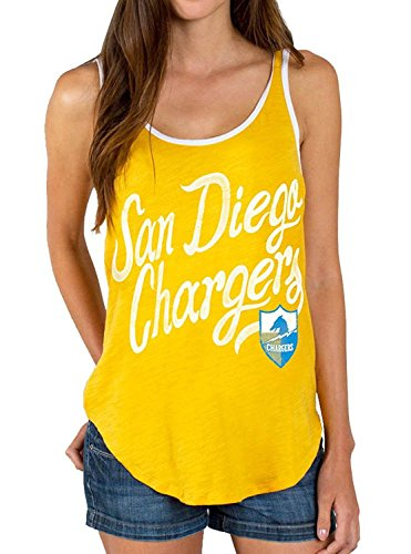 Chargers Diego San Womens (Junk Food NFL San Diego Chargers Mustard Yellow Juniors Tank Top (XX-Large))