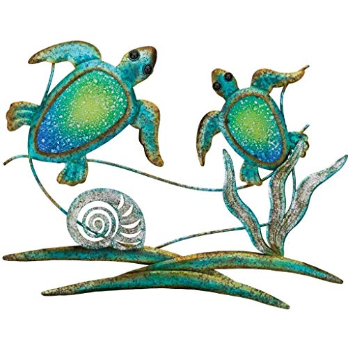 Regal Art & Gift 12352 Double Sea Turtle Decor Wall Décor, Blue