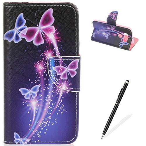 MAGQI LG G5 Case Flip Slim Fit Wallet Cover Premium PU Leather Card Slots Protective Case Magnetic Closure Cover for LG G5 - Crystal Butterfly