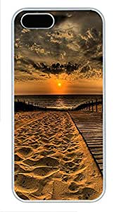iPhone 5 5S Case Landscapes Beach 1 PC Custom iPhone 5 5S Case Cover White