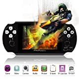 Handheld Game Console,YANX 4.3'' Classic 64Bit Portable Video Game With 600 Games Built in Console Game Player Birthday Gifts for Boy Kids Children (Black-1)