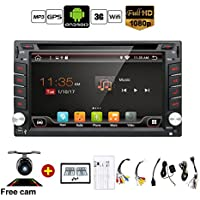 Upgrade Version WIFI Model Qure Core Android 6.0 Double din Car dvd Player Stereo GPS Navigation for Universal car With Free Camera