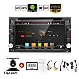 Product review for Upgrade Version WIFI Model Qure Core Android 6.0 Double din Car dvd Player Stereo GPS Navigation for Universal car With Free Camera