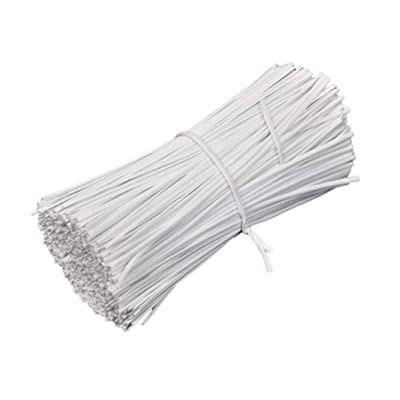 Alien Storehouse 1000pcs Plastic Twist Ties for Bread Candy Bags Cellophane Party Bags 3.9 inches - White: Home & Kitchen