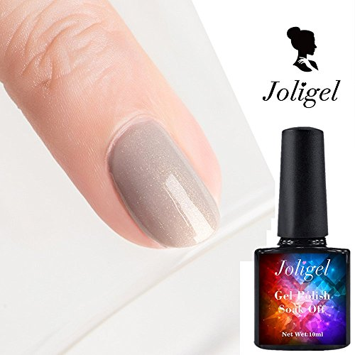 Amazon.com: Joligel Gel Nail Polish UV LED Nude Daily Color Mocha Milk Coffee Light Khaki, with Superfine Gold Glitters, 10ML: Health & Personal Care