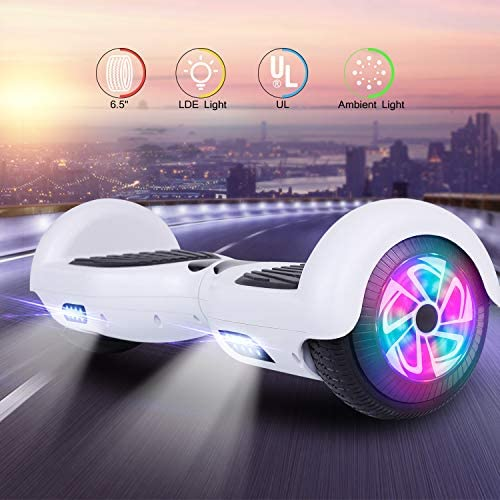 Felimoda Hoverboard, Self Balancing Scooter w UL 2272 Certified LED Lights for Adults Kids