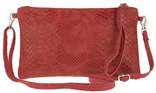 Snake Bag Print Girly Italian HandBags Clutch Girly Suede Italian HandBags Suede Coral xv0BSq
