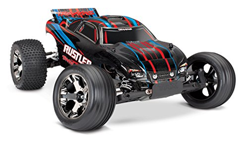 (Traxxas 37076-4 Rustler VXL 2WD Brushless Stadium Truck, Red)