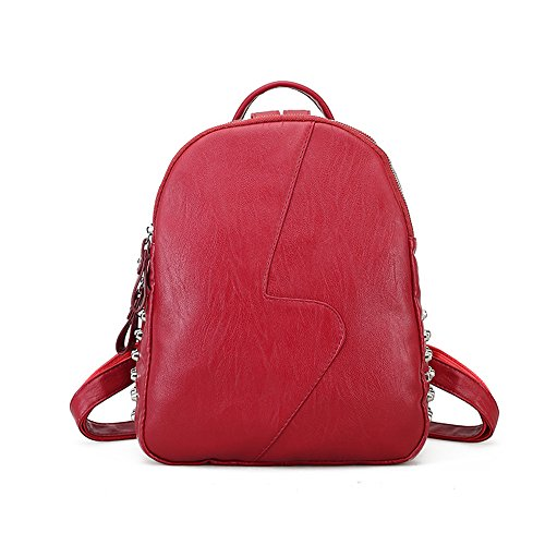 Mini Backpack Purse Anti-theft Leather School Red Backpack fashion For Women and Grils by Alovhad
