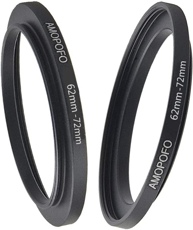 62 to 72mm Step Up Ring //62mm to 72mm Step Up Ring Filter Adapter for 72mm UV,ND,CPL,Metal Step Up Ring