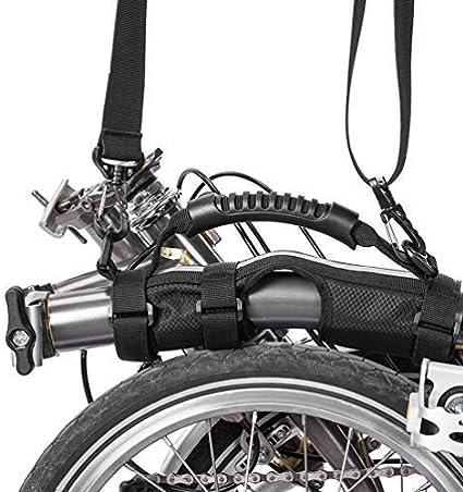 Rock Bros para Brompton Asa para Llevar Mango Bicicleta Plegable Marco Transporte Tira en Hombro: Amazon.es: Deportes y aire libre